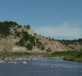 The photo above is the Cheyenne River in South Dakota at the Wild Horse Sanctuary south of Hot Springs.  It was taken September of 2011.