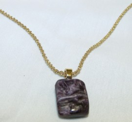 Charoit Pendant (chain not included)