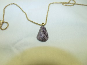 Charoit Pendant 2 (chain not inlcuded)