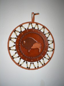 Standing Buffalo, rust, nominal 10 in dia  $95.00