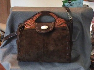 Chochocolate Suede Purse SOLD!